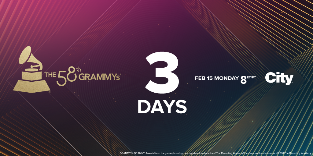 3 days left until @justinbieber, @diplo & @Skrillex perform @ the #GRAMMYs. Don't miss this night at 8ET/5PT on City https://t.co/K7qHthE0mQ
