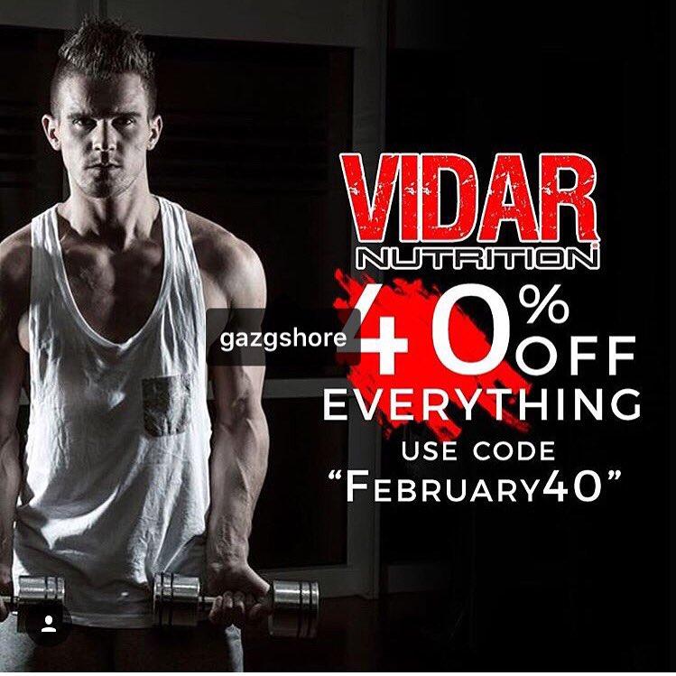 40% off everything at @VidarNutrition use code: February40 at https://t.co/pDvZHAmKi0 #vidar #thermoshots https://t.co/PZAev5Sc3n
