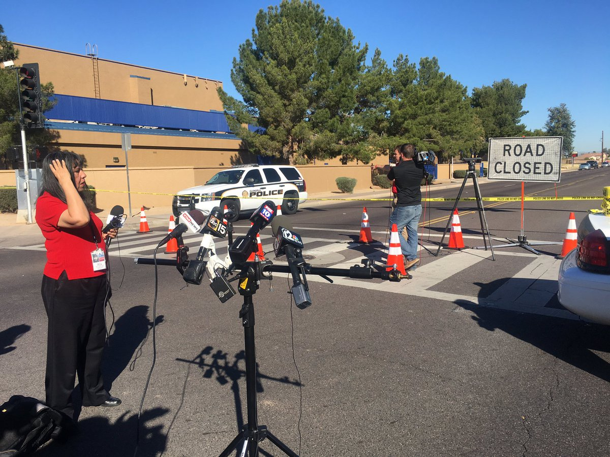 Media in place. Waiting for press conference to begin. Independence double shooting. #azfamily #cbs5answers https://t.co/xkTJ4eqEfH