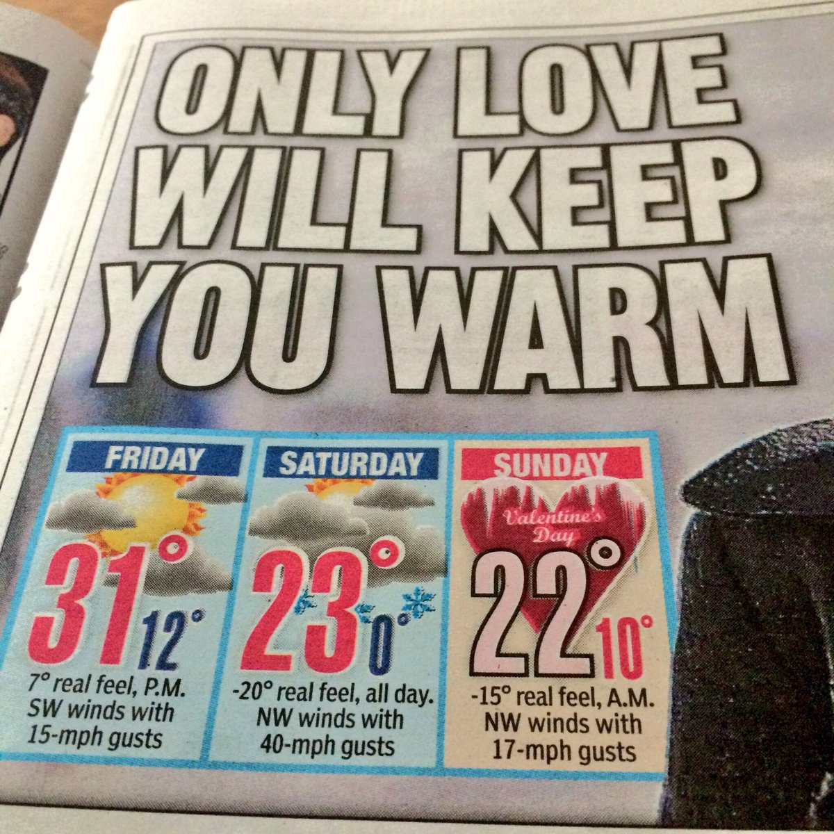 Happy Valentine's Day weekend from @nypost
