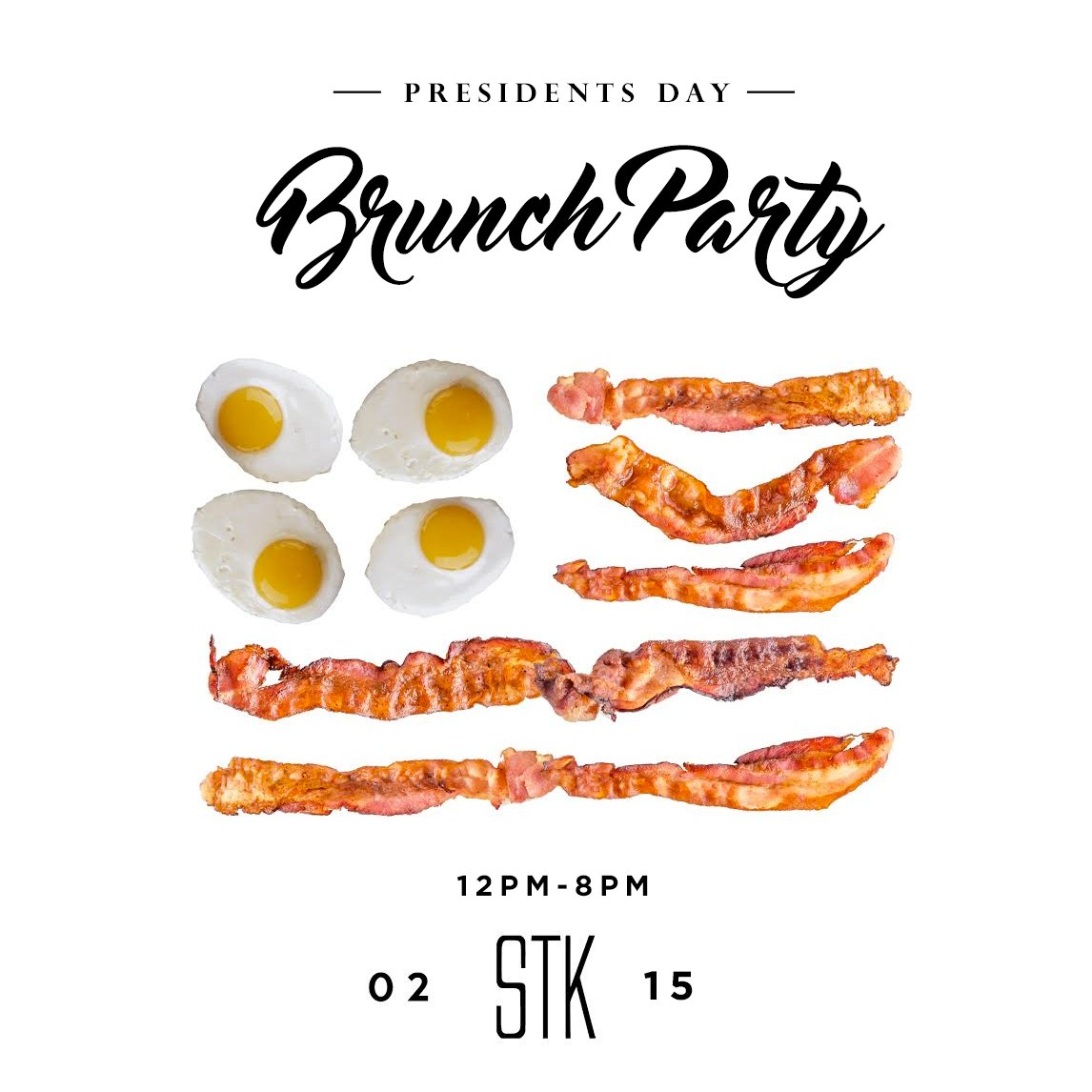 2/15 The Presidents Day Party at STK 12-8pm |  Food, Music & Brunch | RSVP & Table RSVP: https://t.co/7D0UrLkmSV https://t.co/Z3lTUQ7HNd