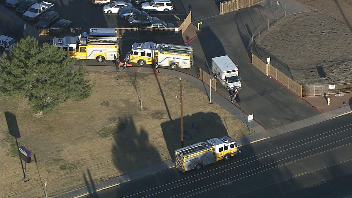 Air15 over police situation at Independence High School near 75th Ave/Glendale. Working to learn more.