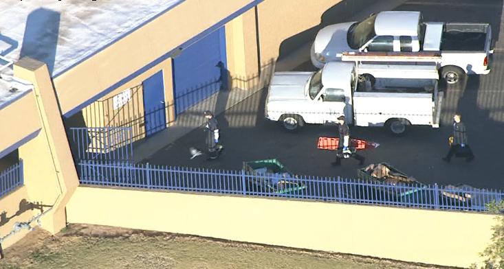 Sky12 is over a police situation at Independence High School.