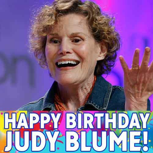 Author @judyblume turns 78 today. Happy birthday!