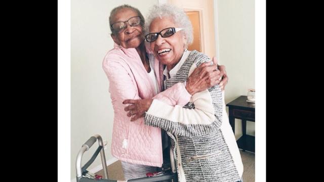 Elderly women celebrate 71 years of friendship