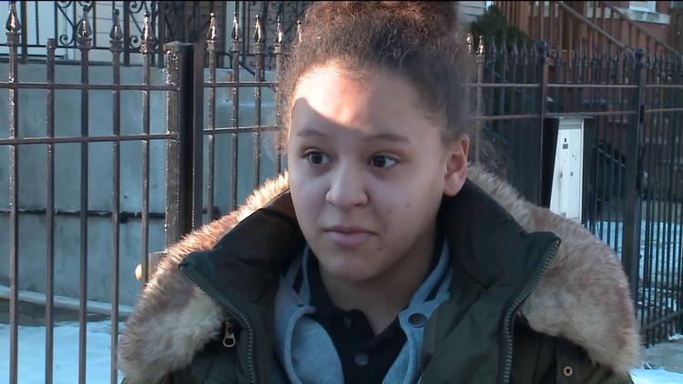 16-year-old girl shot while walking to school: