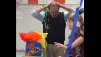 Teacher tells students he can't recall last time he had birthday cake so they surprise him