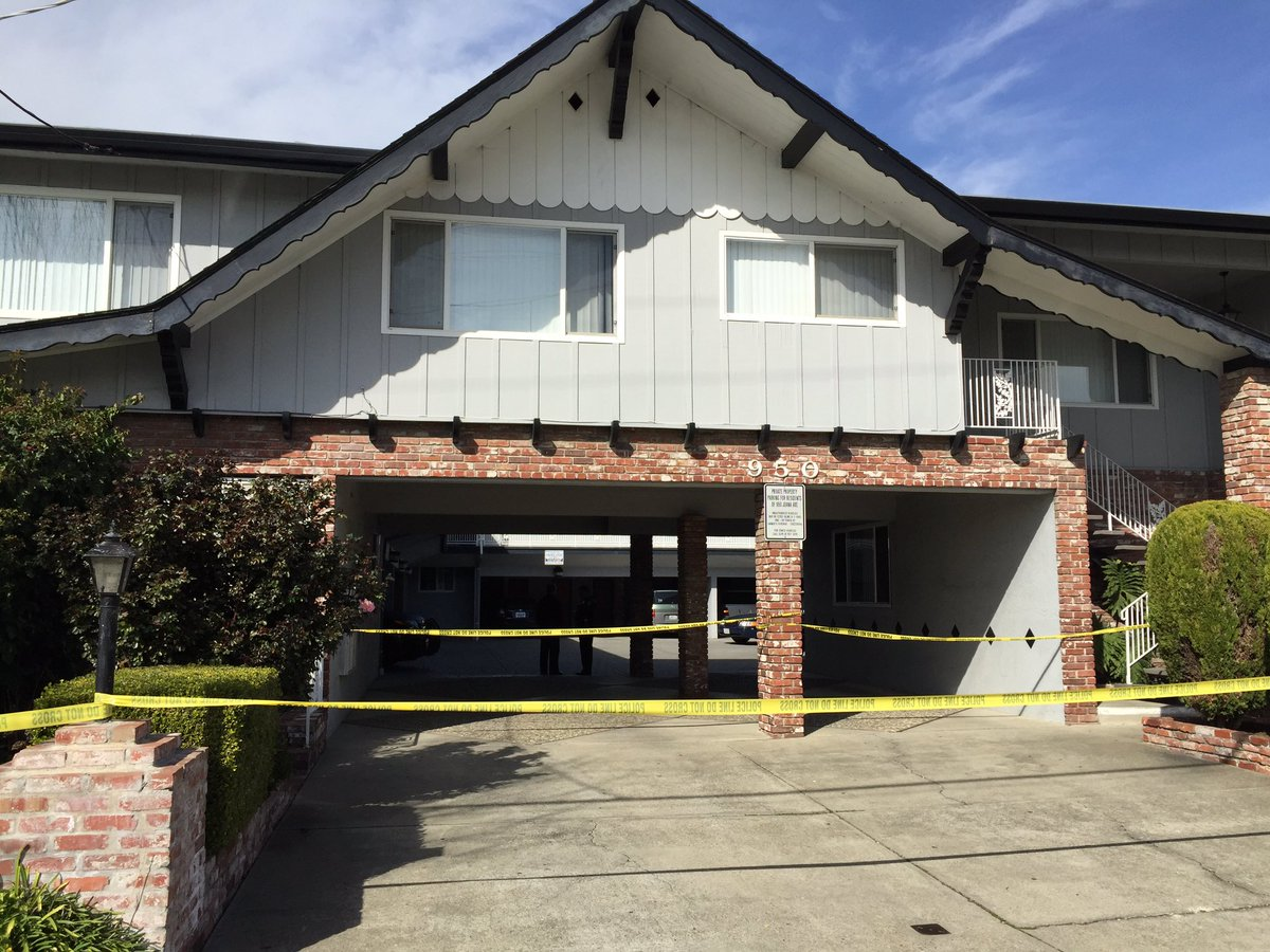 San Leandro police investigating a murder at an apartment building. PD says a 21yr old stabbed his father to death.