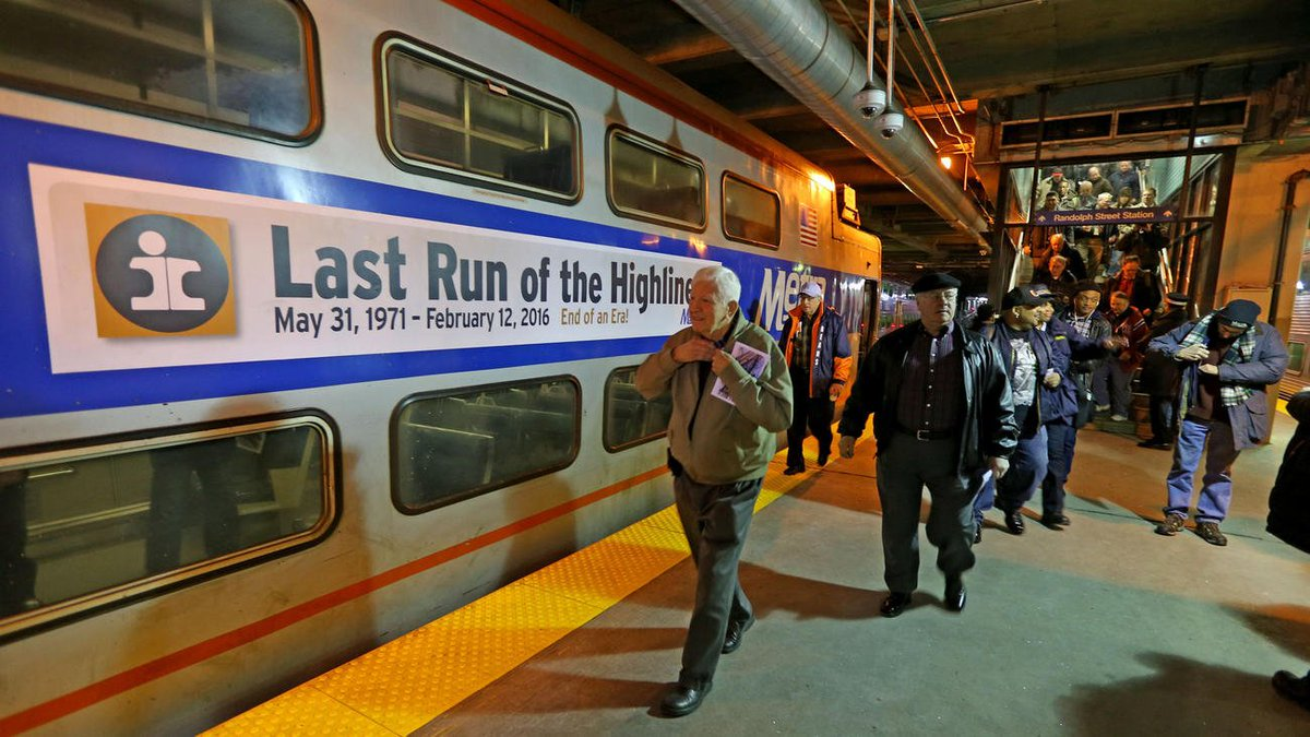 The Highliner cars on the Metra Electric Line have carried their final passengers