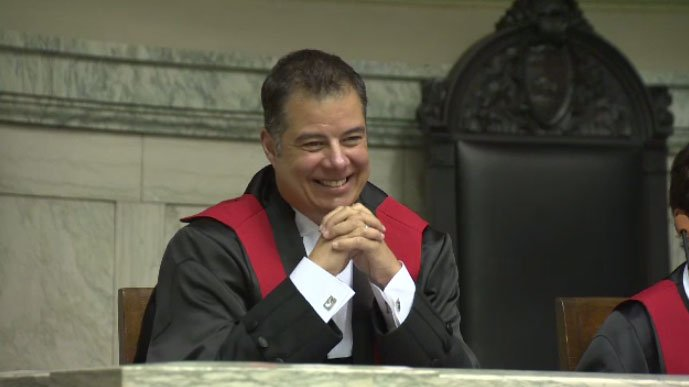 Kael McKenzie sworn in as Canada's first transgender judge in a Manitoba courtroom ctvwpg