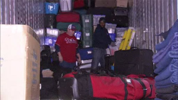 Phillies load up truck for Spring Training-