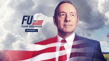 If the South Carolina primary weren't crazy enough, enter Frank Underwood.