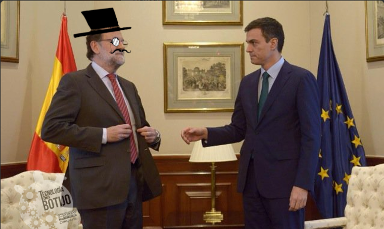 Rajoy y Sánchez. Feel like a sir. https://t.co/AIAnnwaneb