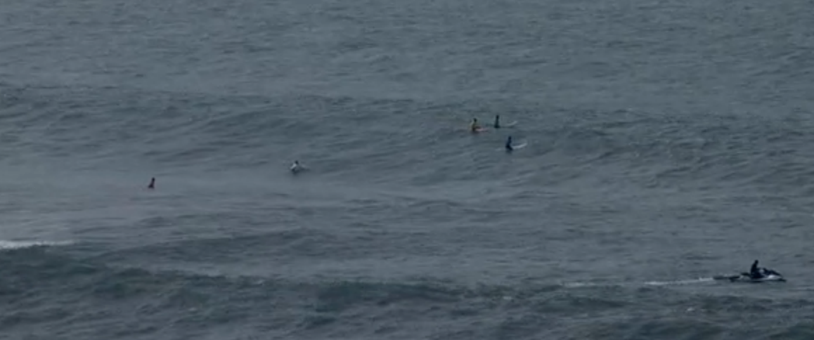 The Mavericks Surf competition is on, and we've got a live feed of it here