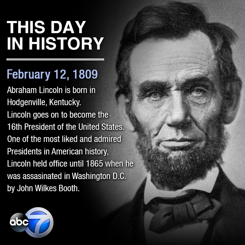 On this day 207 years ago, Abraham Lincoln was born in Hodgenville, Kentucky.