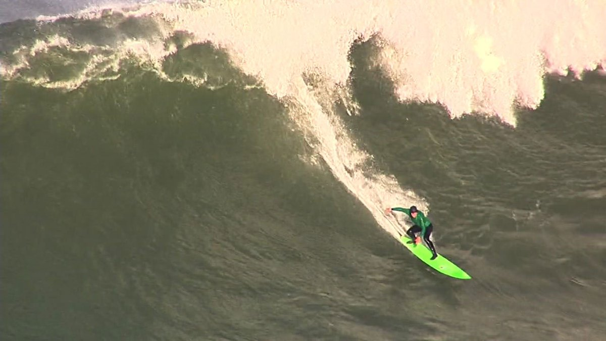 Surfers hit the waves for the Titans of MavericksSurf competition