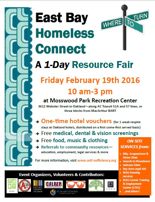 East Bay Homeless Connect @ Mosswood Park Recreation Center | Oakland | California | United States