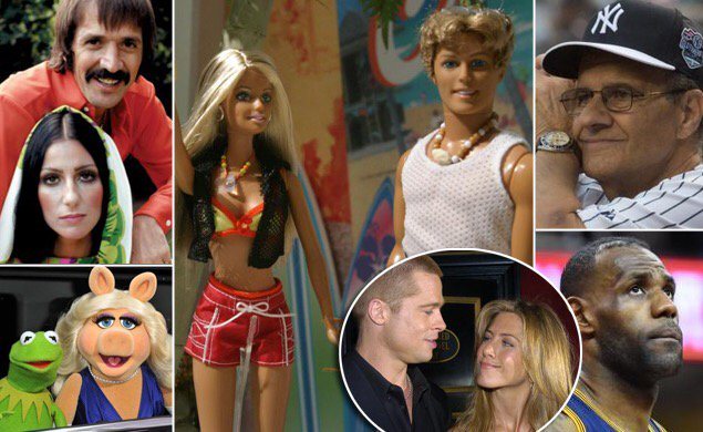 On the anniversary of Barbie and Ken's split, a look at other shocking breakups