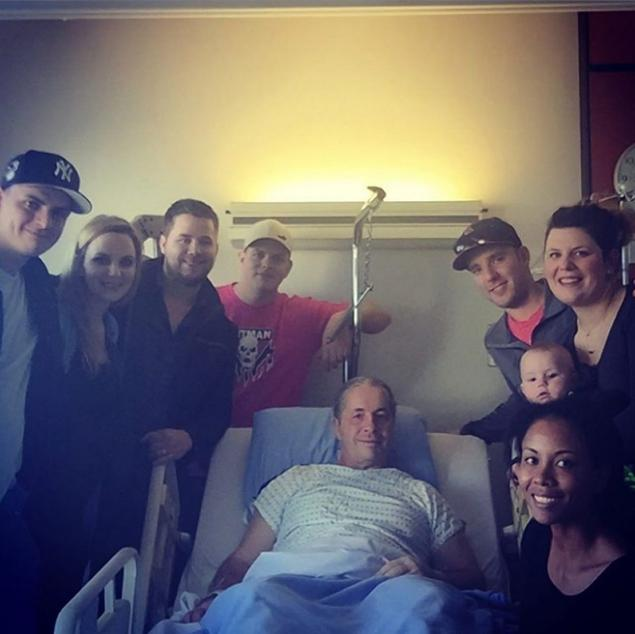 'ONWARDS AND UPWARDS': Bret 'The Hitman' Hart undergoes successful surgery on prostate