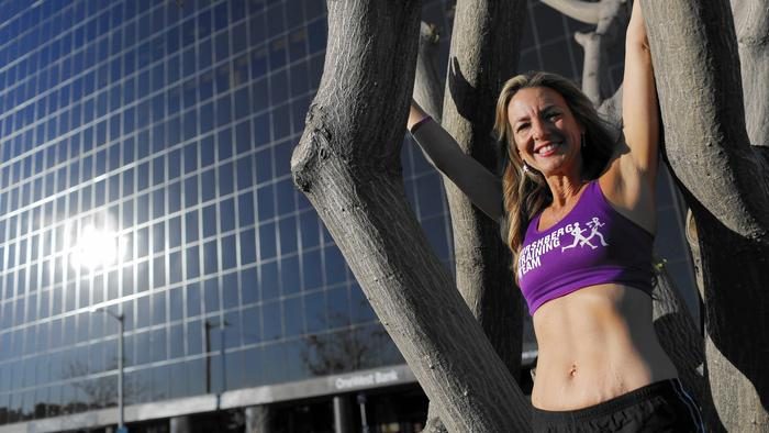 She's running her 100th marathon in LA – all to raise funds for cancer research LAmarathon