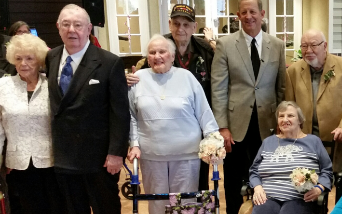 Several senior couples renewed their vows today at an assisted living center in Cherry Hill for Valentine's Day.