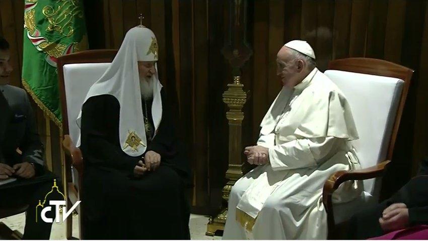 россия, необычное, знаменитости - Встреча тысячелетия: Как Патриарх впервые в истории встретился с Папой