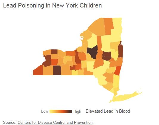 New York has highest level of kids with lead poisoning -- and Connecticut makes the top 5