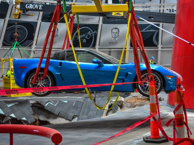 Corvette Museum pays homage to sinkhole that ate 8 cars