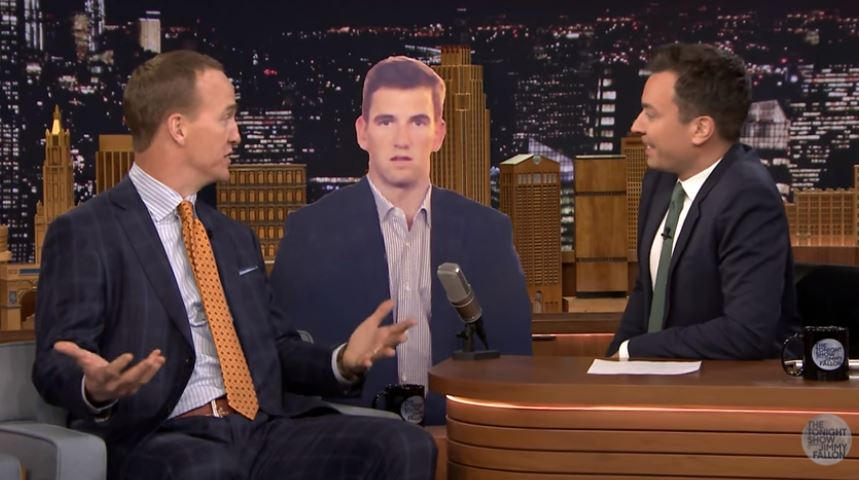GAME FACE: Peyton Manning says he's seen Eli's blank face before