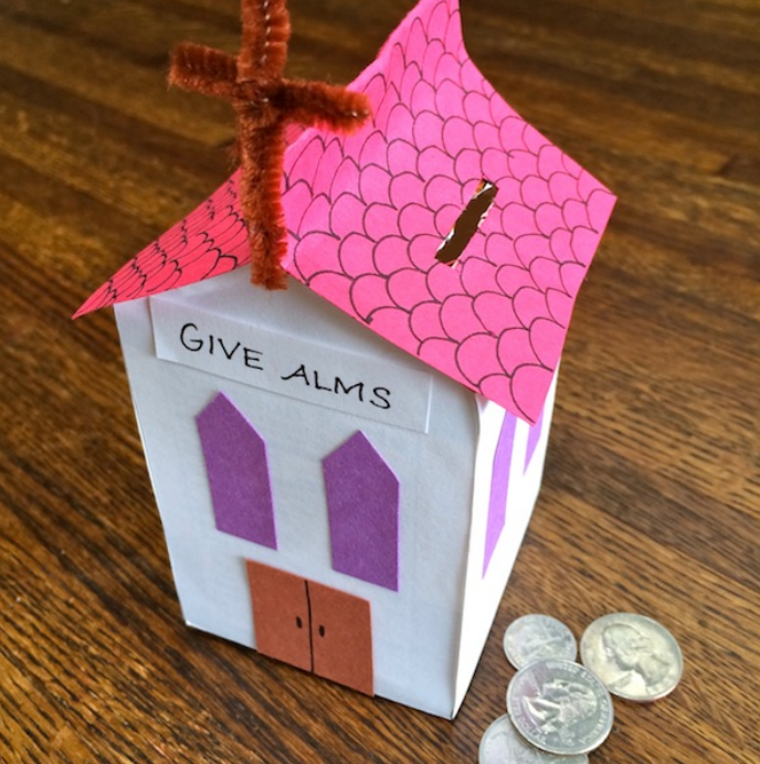 Have your students create this Almsgiving Box for #Lent Find it at https://t.co/qpbhbb66pB #Catholic #catholicedchat https://t.co/DcxmI68mbk