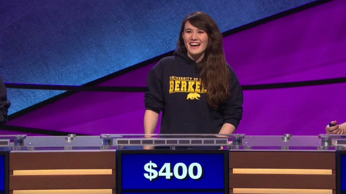 UC Berkeley student Niki Peters will again compete on @Jeopardy's college championship tonight on ABC7 at 7 p.m.!