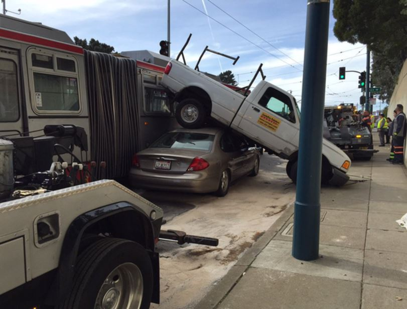 UPDATE: One person suffered minor injuries in Muni accident near City College of SF.