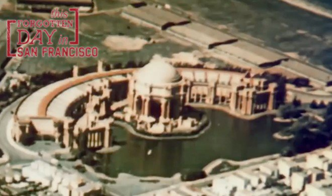 Rare color footage of the Palace of Fine Arts & Telegraph Hill ForgottenDaySF @MCallahanTV