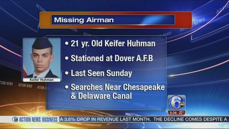Search for missing airman stationed in Dover continues Saturday