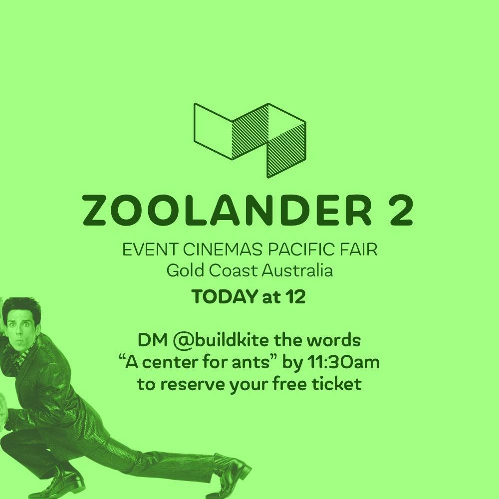 Want to hide from the rain at #RubyConf_AU today? See Zoolander 2 on us at 12 at Pacific Fair! 🎥😂 https://t.co/606OJAMt86
