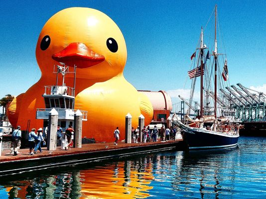 Is this REALLY BIG rubber ducky coming to Michigan?