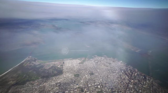 San Francisco As Seen From A Weather Balloon Launched In The Presidio
