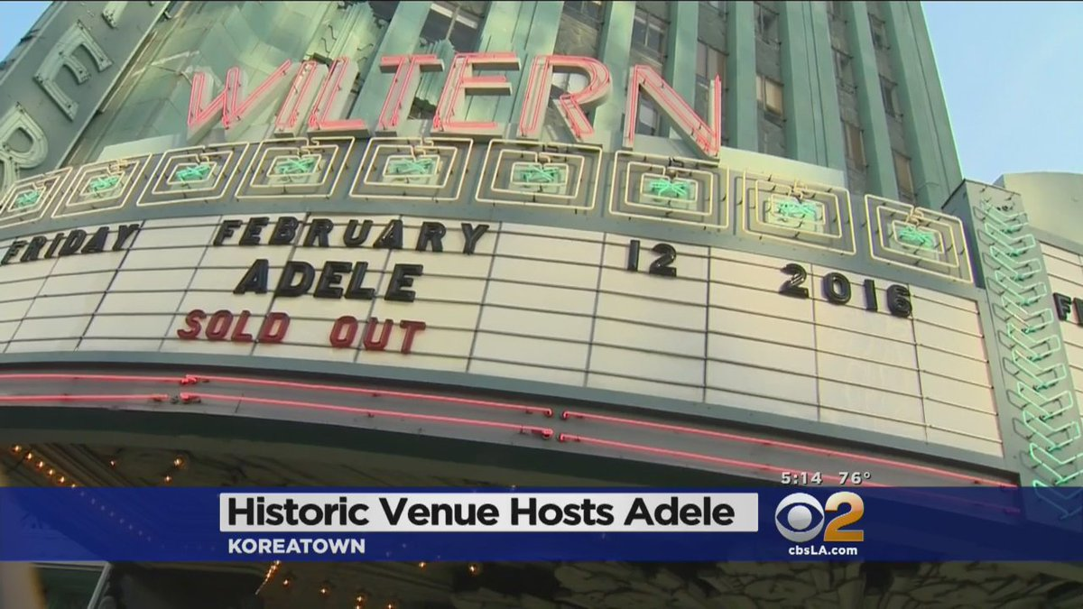 @Adele is performing at the Wiltern tonight. @rebeccataylortv has the latest, WATCH