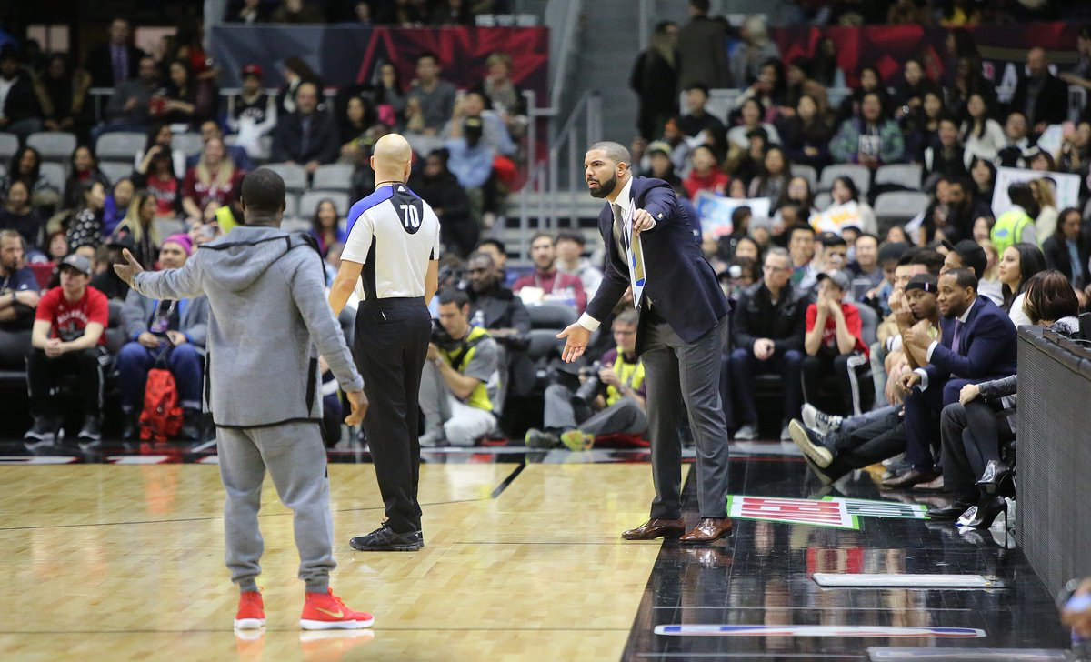 Coach @Drake  Canada takes NBAAllStarTO celebrity game 74-64