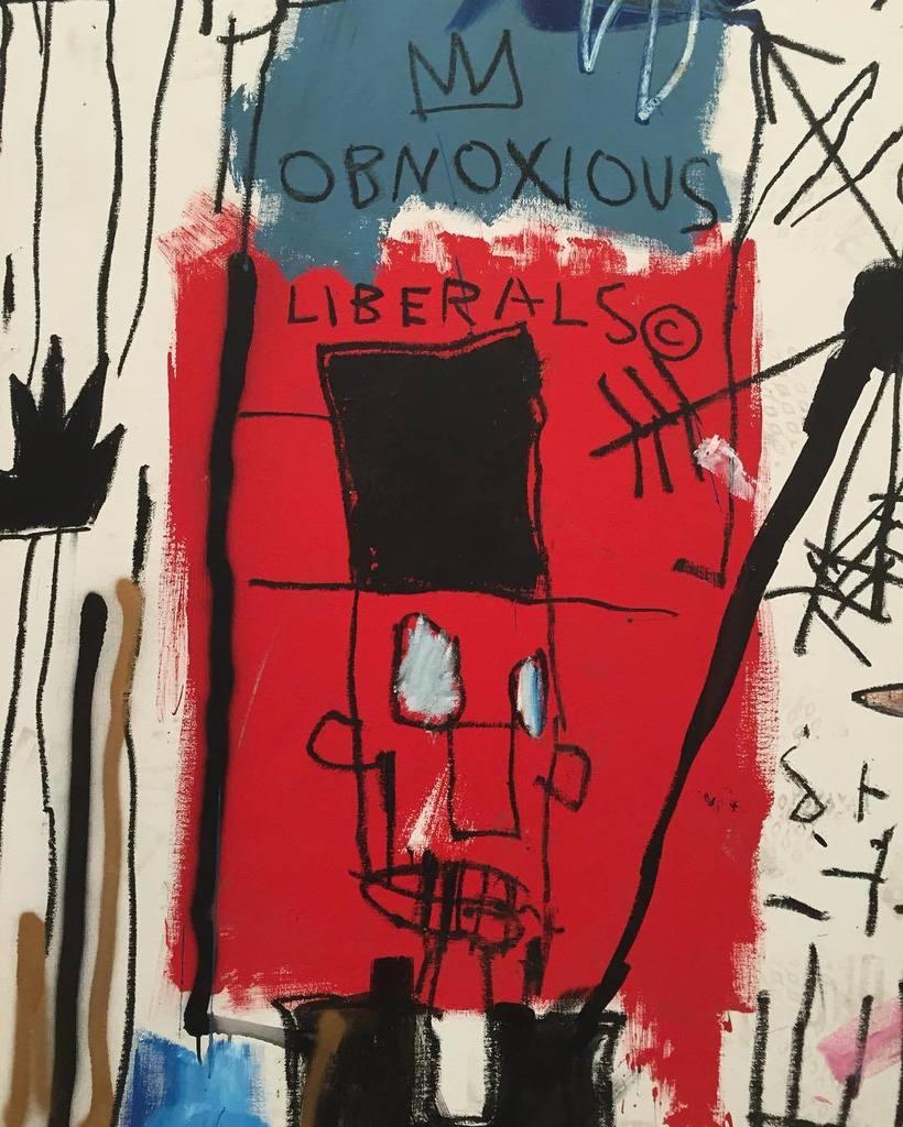 """Jean-Michel Basquiat's """"Obnoxious Liberals"""" at @thebroadmuseum https://t.co/pHnvQSOKnR"""