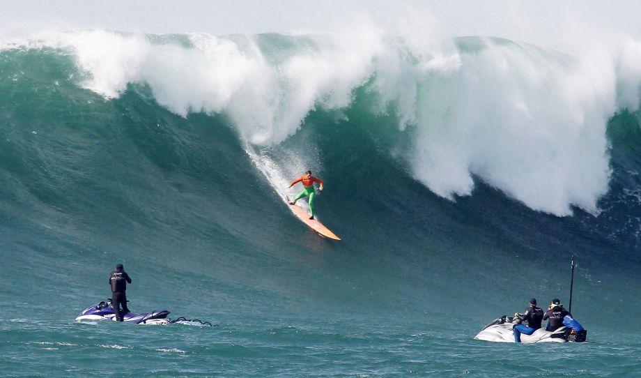 Big-wave surfing fans flock to Mavericks.