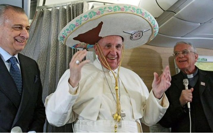 Pope Francis arrives in Mexico for 5-day visit
