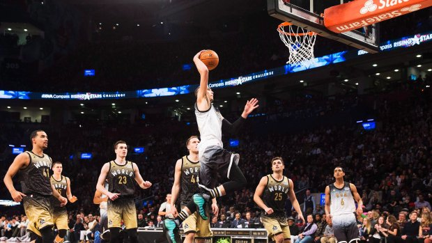 LaVine leads U.S. over World in rising stars competition