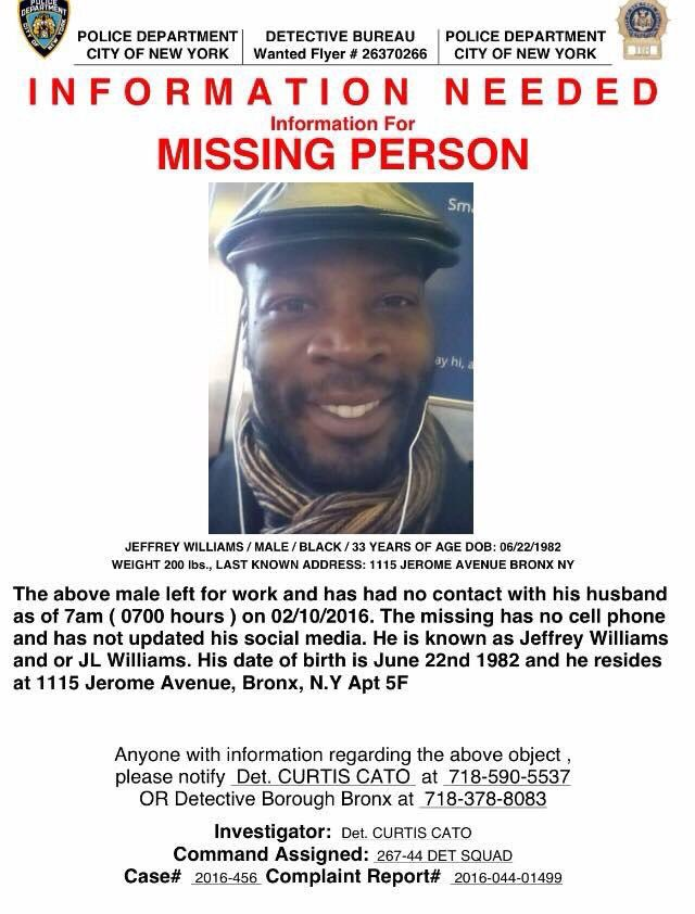 More information about Broadway dancer JL Williams, who's been missing for days. Pass it on if you can. #JLWilliams https://t.co/DduyIfz1kV