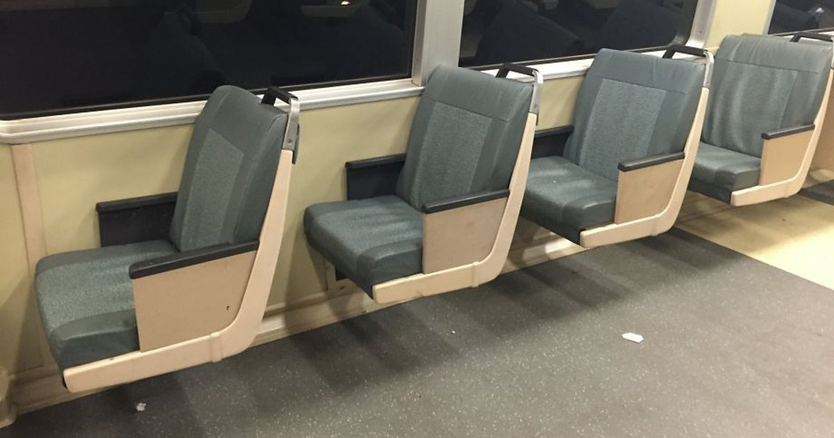 BART removes some seats to give passengers more room.