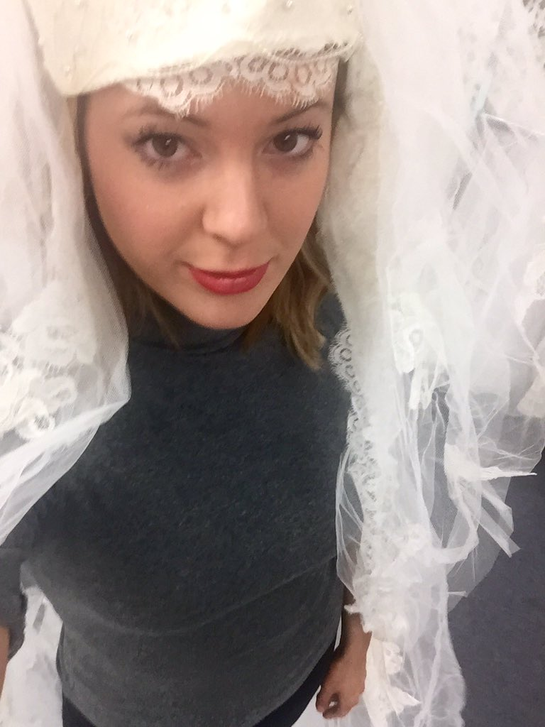 Guys, I think my veil needs more drama. @CBSPhilly -- having way too much waiting for the Goodwill bridal mad dash.