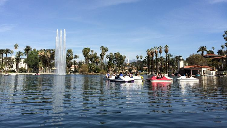A visit to the Floating Library in Echo Park Lake