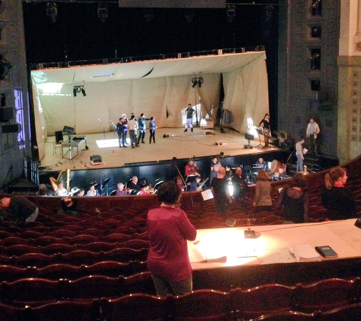 Bei der Orchesterhauptprobe von Carmen Assassinée @AugustEverding (Probe vor der Generalprobe) #carmenundich https://t.co/kBYb7s7QPx
