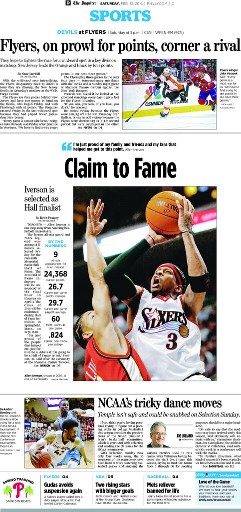 From today's Inquirer, 02/13/16