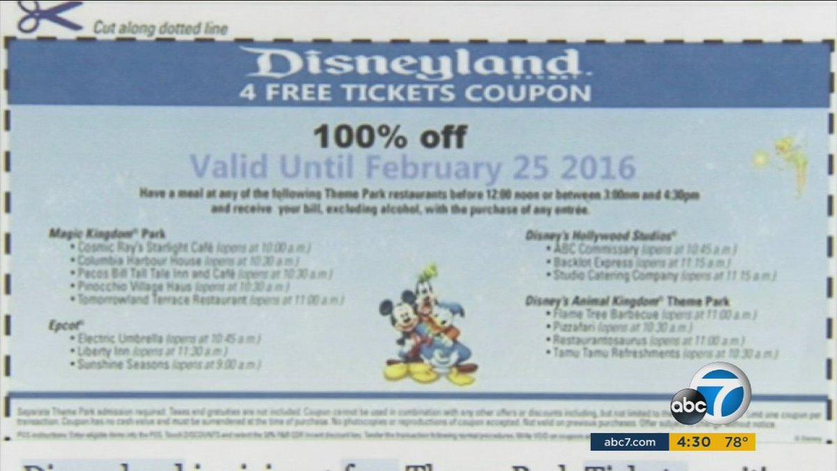 SCAM ALERT: Fake coupons for Disneyland circulating on social media